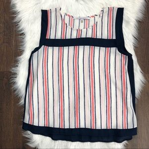 Collective Concepts Navy Pink Striped Tank